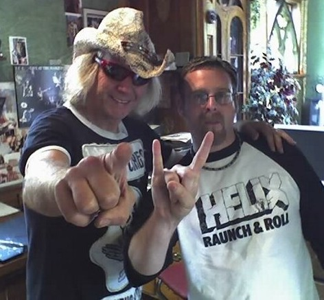 Brian Vollmer and I, back in in 2007 at Planet Helix!
