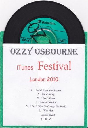 OZZY ITUNES FESTIVAL TRACKS