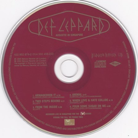 ACOUSTIC IN SINGAPORE CD