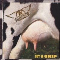 "REVIEW:  Aerosmith - Get A Grip (1993 ""cow hide"" cover)"