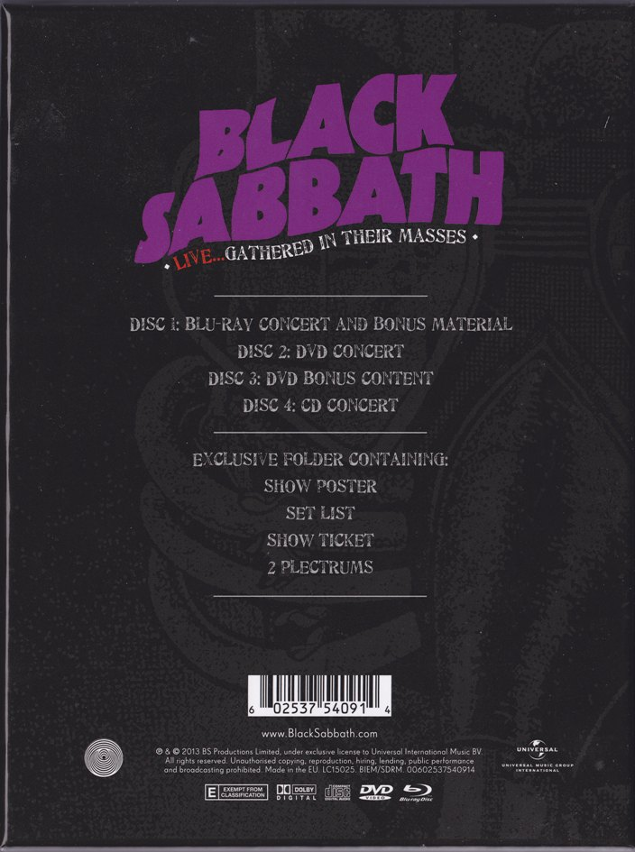 review black sabbath � live�gathered in their masses cd