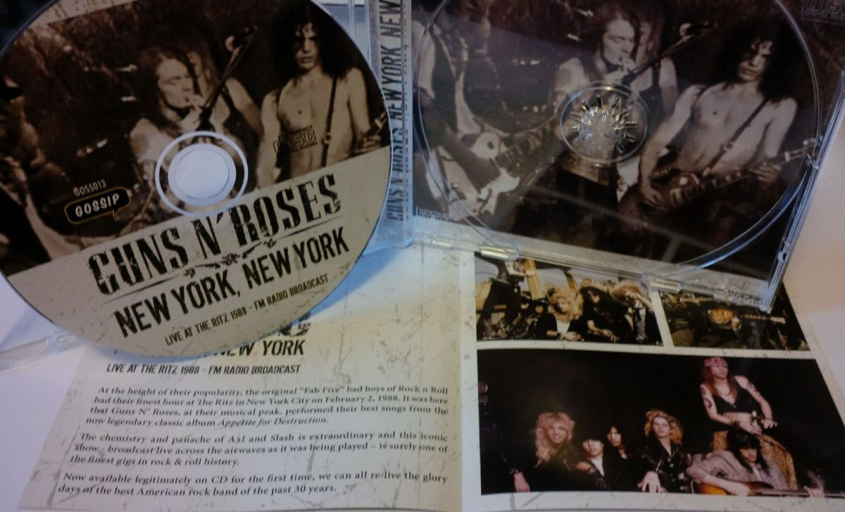 review guns n roses new york new york live at the ritz 1988. Black Bedroom Furniture Sets. Home Design Ideas