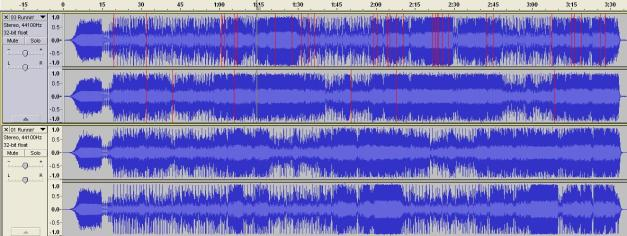 RUNNING WITH THE DEVIL WAVEFORM COMPARISON