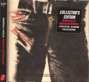 Early 90's CD reissue of Sticky Fingers with zipper