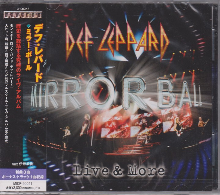 REVIEW:  Def Leppard – Mirrorball: Live & More (2011 Japanese with bonustrack)