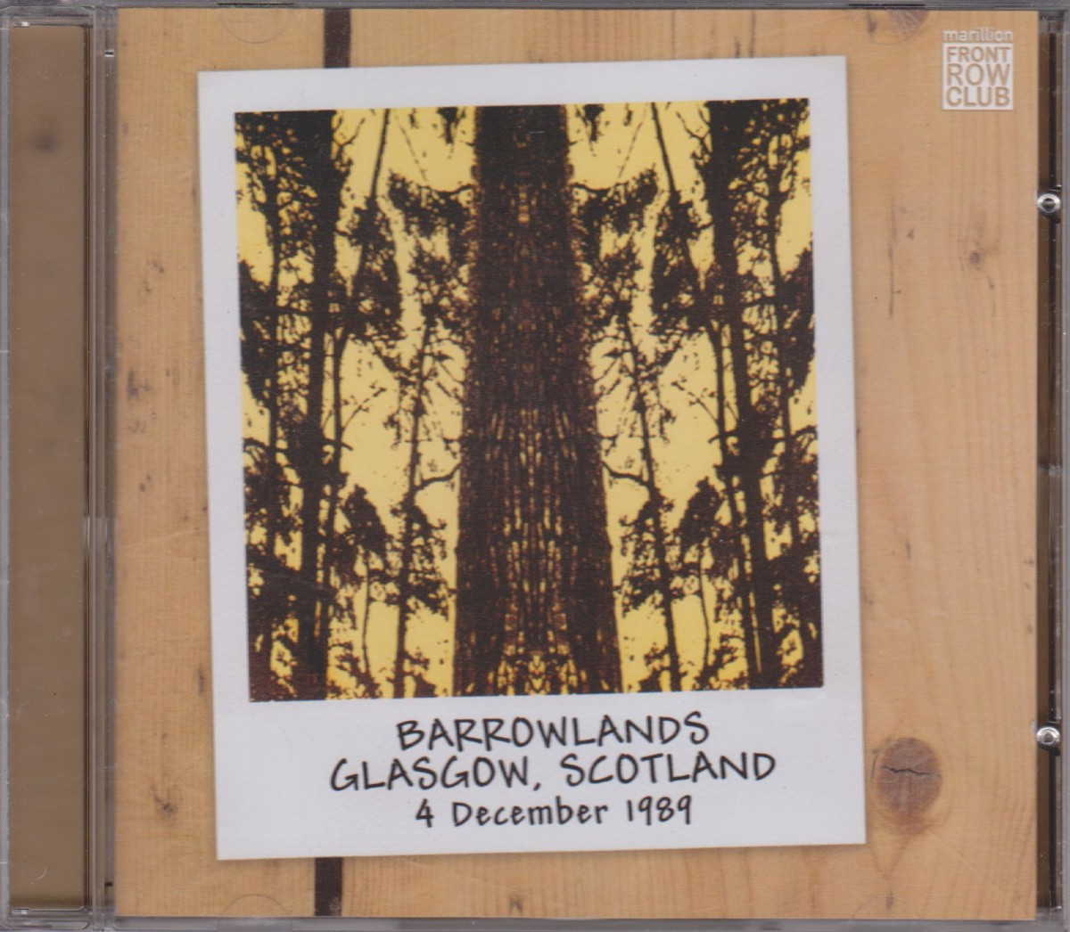 REVIEW:  Marillion - Barrowlands, Glasgow, Scotland. 4 December 1989. (FRC-005)