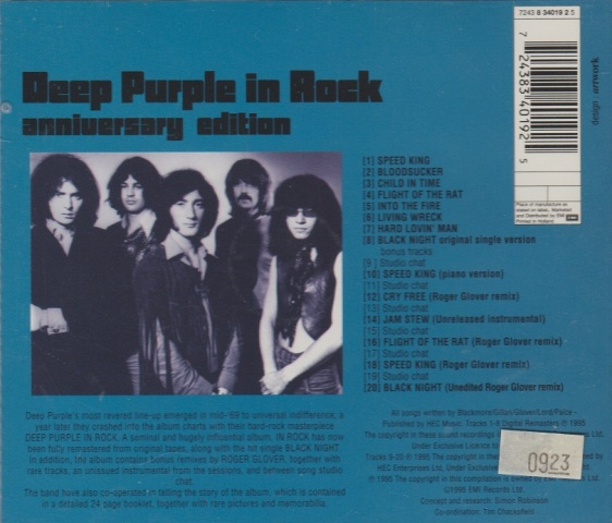 REVIEW: Deep Purple – In Rock (Anniversary edition) | mikeladano.com