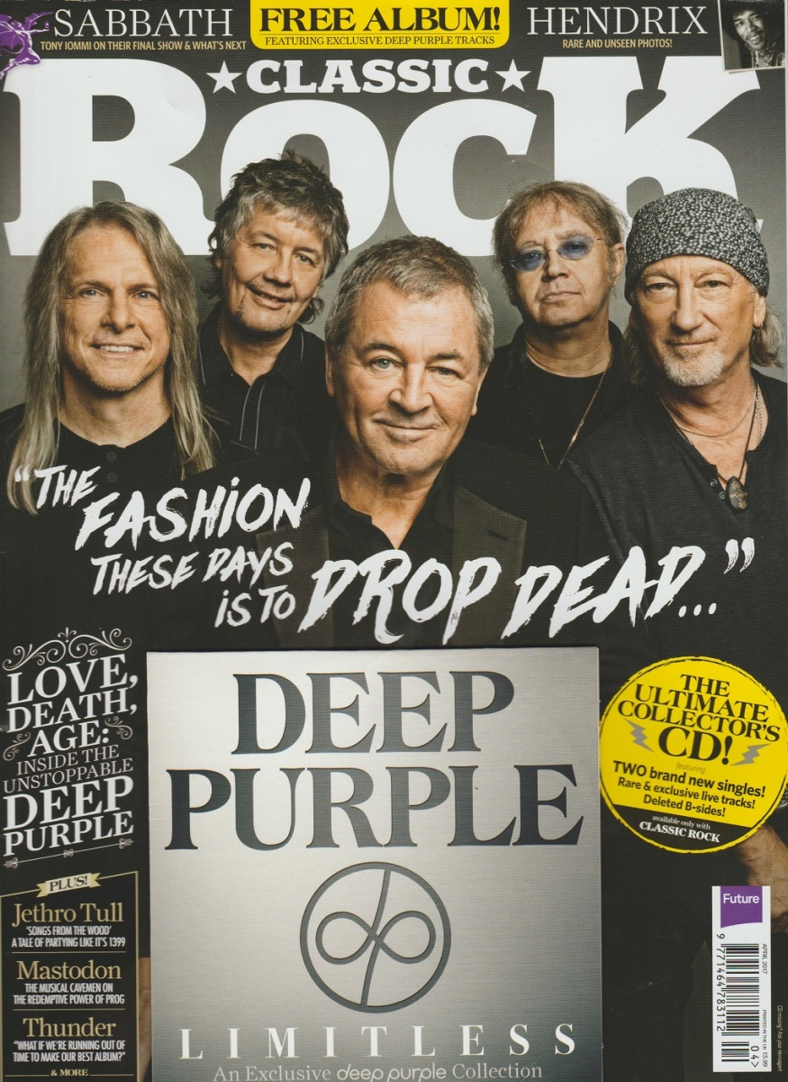 REVIEW:  Deep Purple - Limitless (2017 Classic Rock exclusive CD)