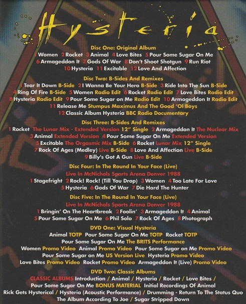 Review Def Leppard Hysteria 2017 5 Cd 2dvd 30th