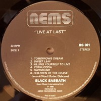REVIEW:  Black Sabbath - Live at Last (1980)