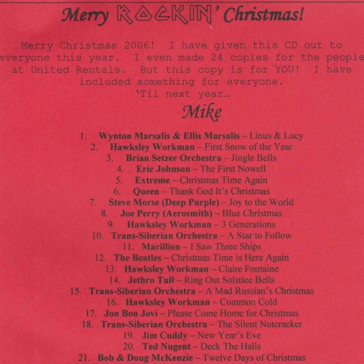 #722:  Christmas Mix 2006