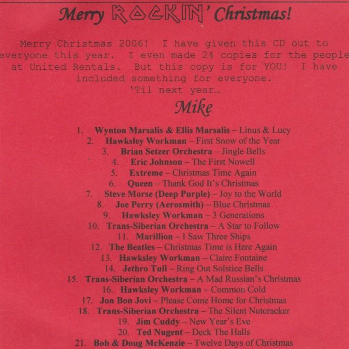 #722:  Christmas Mix2006
