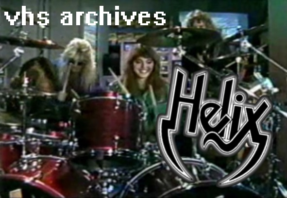 VHS Archives #27: Helix teach Erica Ehm how to drum!(1988)