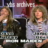 VHS Archives #70:  Iron Maiden's Dave Murray and Janick Gers live interview (1992)