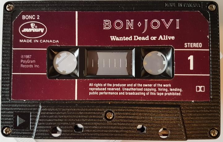 """REVIEW:  Bon Jovi – """"Wanted: Dead or Alive"""" (1987cassette)"""