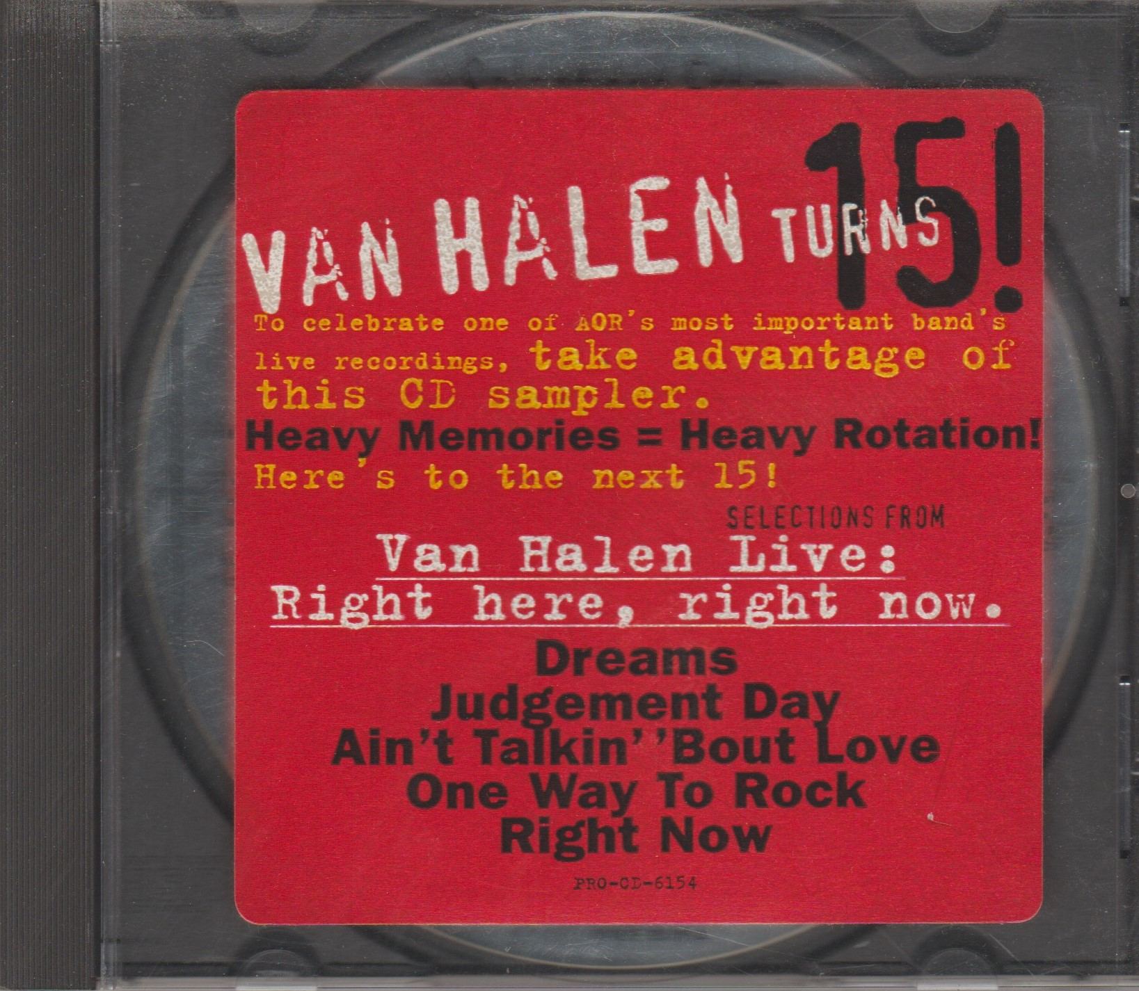 Review Van Halen Selections From Live Right Here Right Now 1993 Promo Ep Van Halen Turns 15 Mikeladano Com Don't forget to let us know if we got it right! 1993 promo ep van halen turns