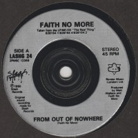 "REVIEW:  Faith No More - ""From Out of Nowhere"" (1990 UK 3 track 7"" single)"